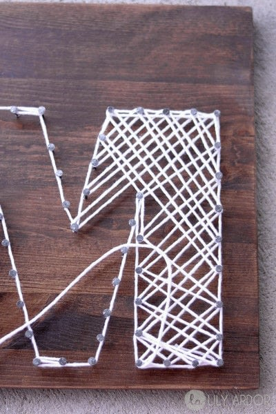 How to make string art. A Special Gift For Your Mom  - Step 3