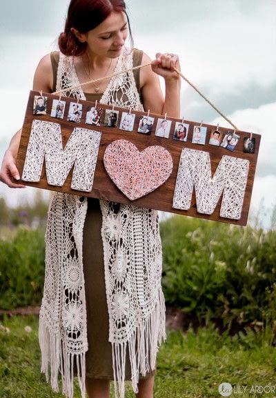 How to make string art. A Special Gift For Your Mom  - Step 6