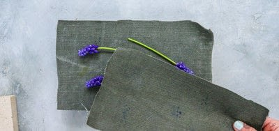 How to make a piece of pressed flower art. How To Make Floral Wall Art  - Step 3