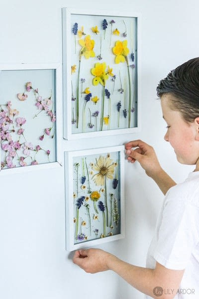 How to make a piece of pressed flower art. How To Make Floral Wall Art  - Step 8