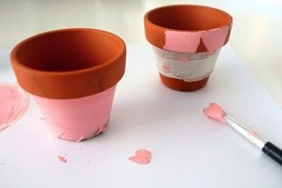 How to make a vase, pot or planter. Cat-cus Pots - Step 6