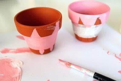 How to make a vase, pot or planter. Cat-cus Pots - Step 7