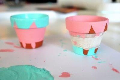 How to make a vase, pot or planter. Cat-cus Pots - Step 9
