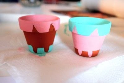 How to make a vase, pot or planter. Cat-cus Pots - Step 10