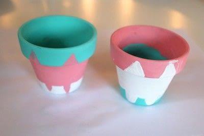 How to make a vase, pot or planter. Cat-cus Pots - Step 11