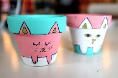 How to make a vase, pot or planter. Cat-cus Pots - Step 14