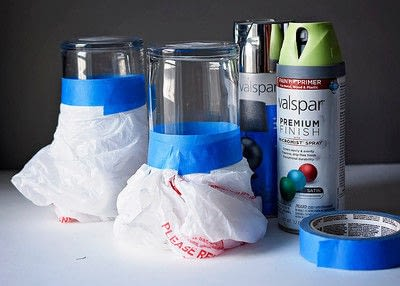How to make a vase. Easy Diy, Spray Painted, Dollar Store Vase - Step 2