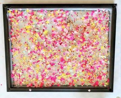 How to make wall decor. Confetti Wall Art  - Step 3