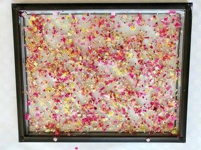 How to make wall decor. Confetti Wall Art  - Step 5