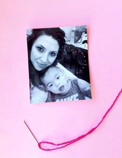 How to make a framed decoration. Embroidery Valentine's Day Photos - Step 3