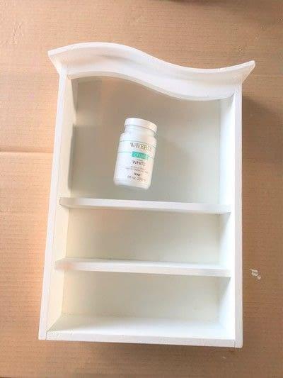 How to make a wall shelf. Thrift Store Shelf Makeover - Step 2
