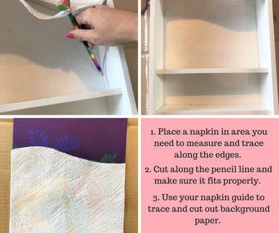 How to make a wall shelf. Thrift Store Shelf Makeover - Step 3
