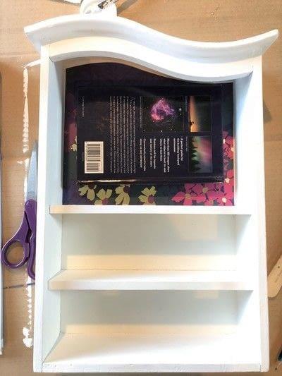 How to make a wall shelf. Thrift Store Shelf Makeover - Step 5