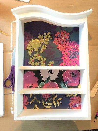 How to make a wall shelf. Thrift Store Shelf Makeover - Step 6