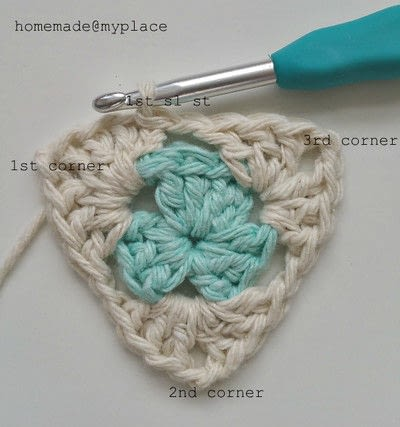 How to crochet a granny square. How To Crochet A Basic Granny Triangle - Step 10