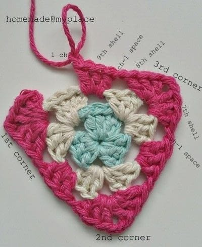 How to crochet a granny square. How To Crochet A Basic Granny Triangle - Step 14