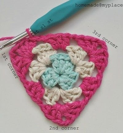 How to crochet a granny square. How To Crochet A Basic Granny Triangle - Step 15