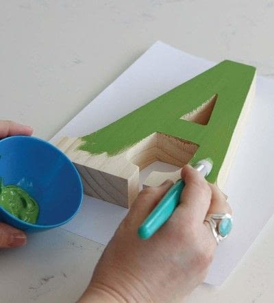 How to make a letter. Sheet Moss Letters - Step 1