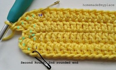 How to make a crochet. How To Crochet An Oval Shape - Step 12