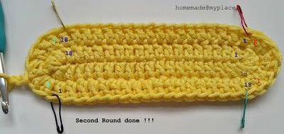 How to make a crochet. How To Crochet An Oval Shape - Step 13