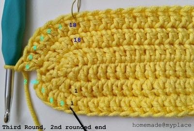 How to make a crochet. How To Crochet An Oval Shape - Step 18