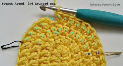 How to make a crochet. How To Crochet An Oval Shape - Step 22