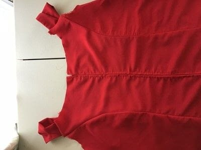How to make a dress. Red Evening Dress - Step 2