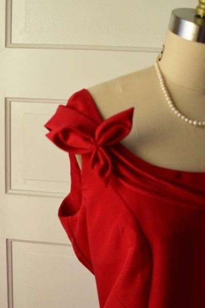 How to make a dress. Red Evening Dress - Step 3