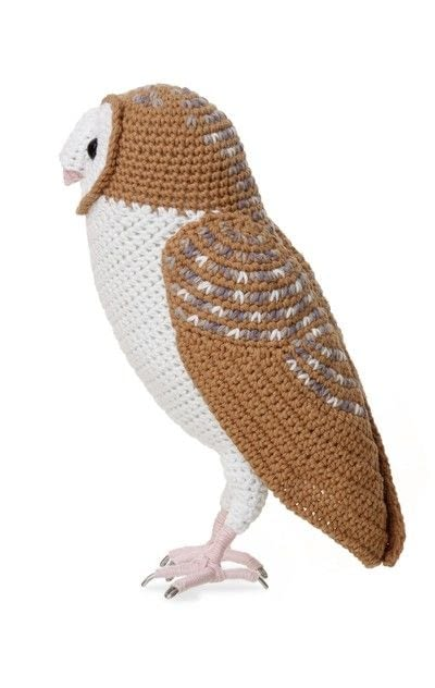 How to make a bird plushie. Crocheted Barn Owl - Step 18