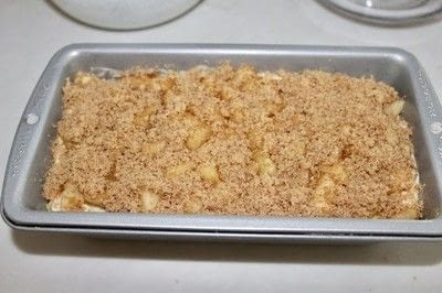 How to bake a loaf of apple bread. Amish Apple Fritter Bread - Step 4