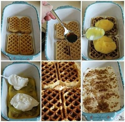 How to make a tiramisu. Brown Sugar And Cinnamon Waffle Tiramisu - Step 2