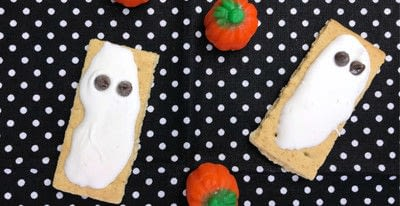 How to decorate a character cookie. Quick 'n' Cute Graham Cracker Ghosts - Step 3