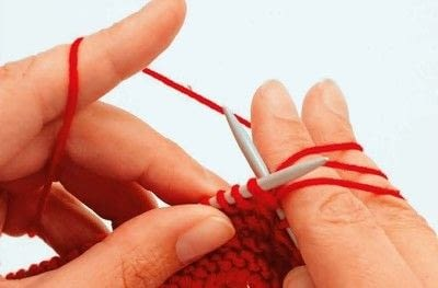 How to knit . How To Knit Loops - Step 6