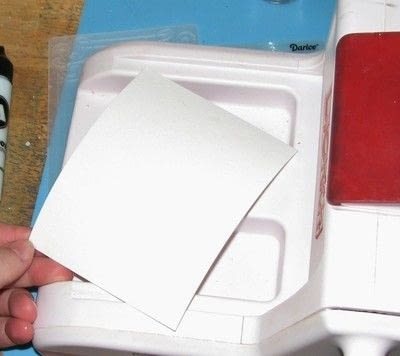 How to emboss an embossed card. Powdered Embossing - Step 1