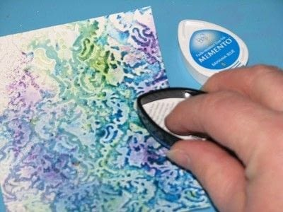 How to emboss an embossed card. Powdered Embossing - Step 4