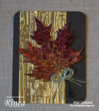How to fold a piece of quilled art. Quilled Multi Color Foiled Maple Leaf - Step 7