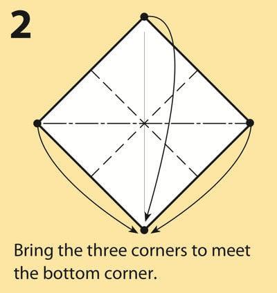 How to fold an origami crane. Origami Crane - Step 2