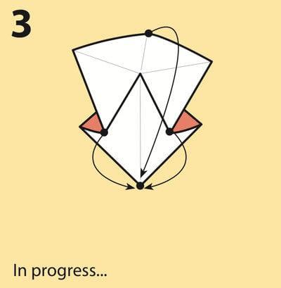 How to fold an origami crane. Origami Crane - Step 3