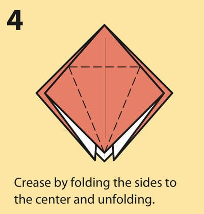 How to fold an origami crane. Origami Crane - Step 4