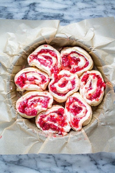 How to bake a pastry. Raspberry Cream Cheese Danish - Step 5
