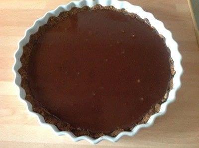 How to bake a chocolate tart. Chocolate Tart - Step 5