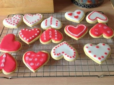 How to make decorative cookies. Valentines Heart Cookies  - Step 7