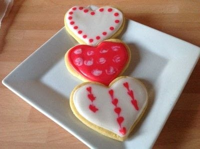 How to make decorative cookies. Valentines Heart Cookies  - Step 8