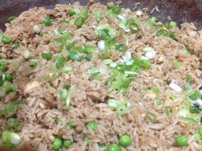 How to cook a fried rice dish. Chicken Fried Rice  - Step 7