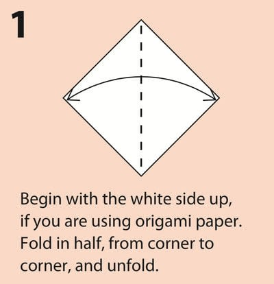 How to fold an origami character. Origami Daruma Doll - Step 1