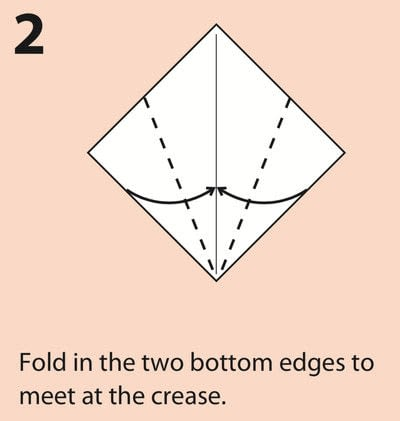 How to fold an origami character. Origami Daruma Doll - Step 2