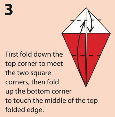 How to fold an origami character. Origami Daruma Doll - Step 3