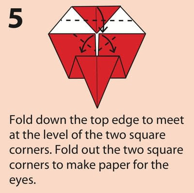 How to fold an origami character. Origami Daruma Doll - Step 5
