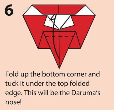 How to fold an origami character. Origami Daruma Doll - Step 6
