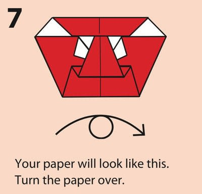 How to fold an origami character. Origami Daruma Doll - Step 7